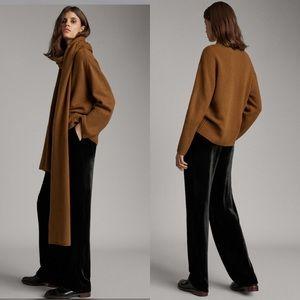 Massimo Dutti NWT Black Velvet High Waist Pant